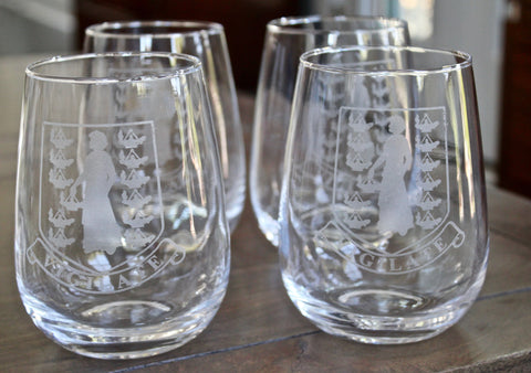 BVI Crest - Engraved Stemless Wine (set of 4)