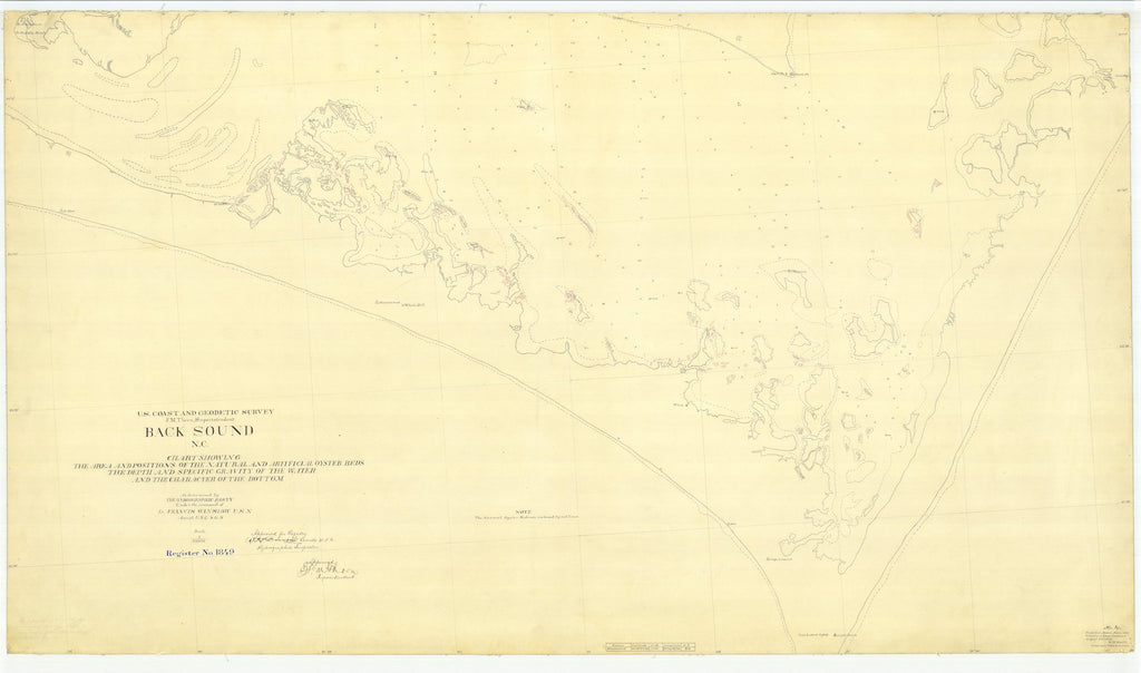 Back Sound Map - Cape Lookout Map - 1886