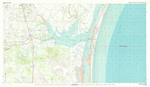 Baffin Bay Texas Topographic Map - 1984