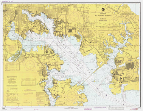Baltimore Harbor Historical Map - 1977