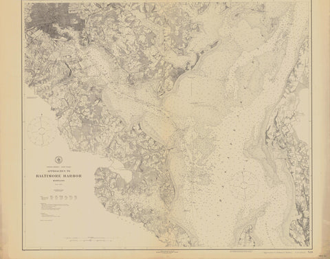 Baltimore Harbor Historical Map - 1921