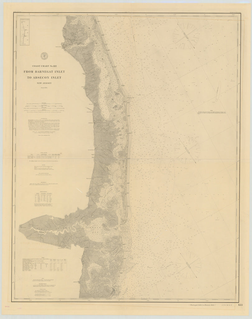Barnegat Inlet to Absecon Inlet Map - 1879
