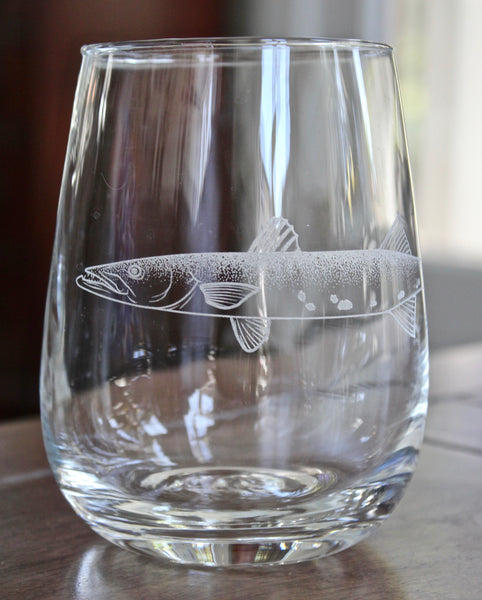 Barracuda - Engraved Rocks, Stemless Wine & Pint Glasses