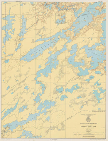 Basswood Lake Map - 1950