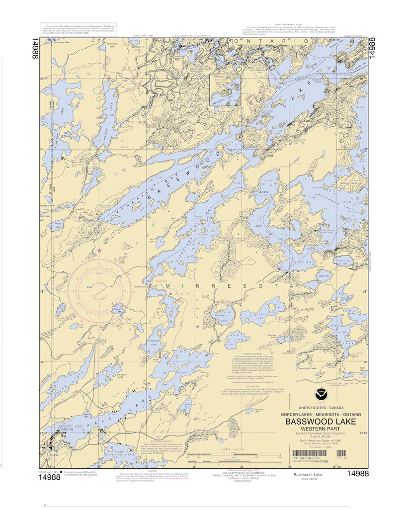 Basswood Lake Map - 2003