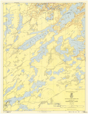 Basswood Lake Map - 1964