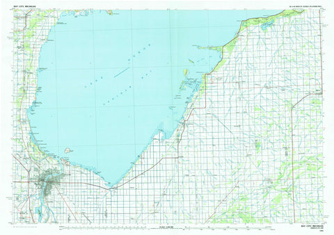 Bay City Topographic Map - 1984