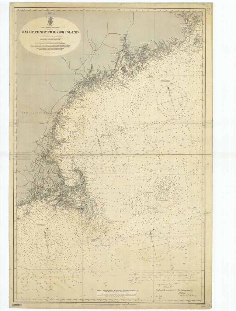 Bay of Fundy to Block Island Map 1911