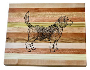 Beagle Wooden Serving Board
