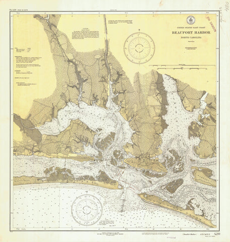 Beaufort Harbor Map - 1933