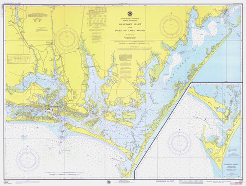 Beaufort Inlet and Core Sound Map 1976