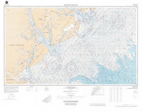 Beaufort South Carolina Bathymetric Map