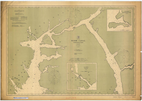 Behm Canal Map - Northern Part - 1903