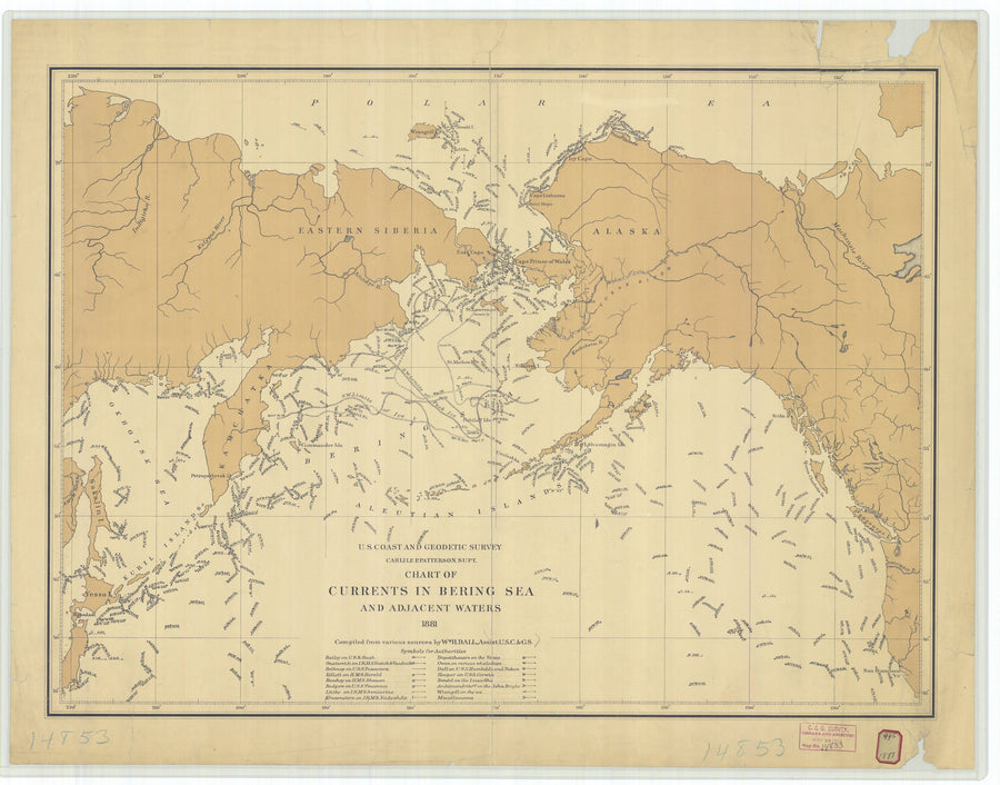 Bering Sea Currents - 1881