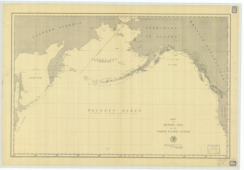 Bering Sea & Pacific Ocean - 1892