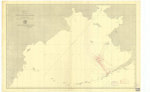 Bering Sea Map - US Naval Vessels - 1891
