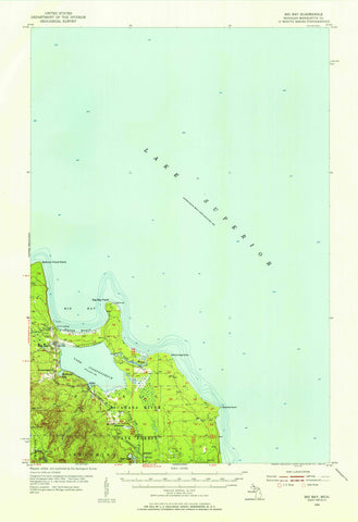 Big Bay Topographic Map - 1954
