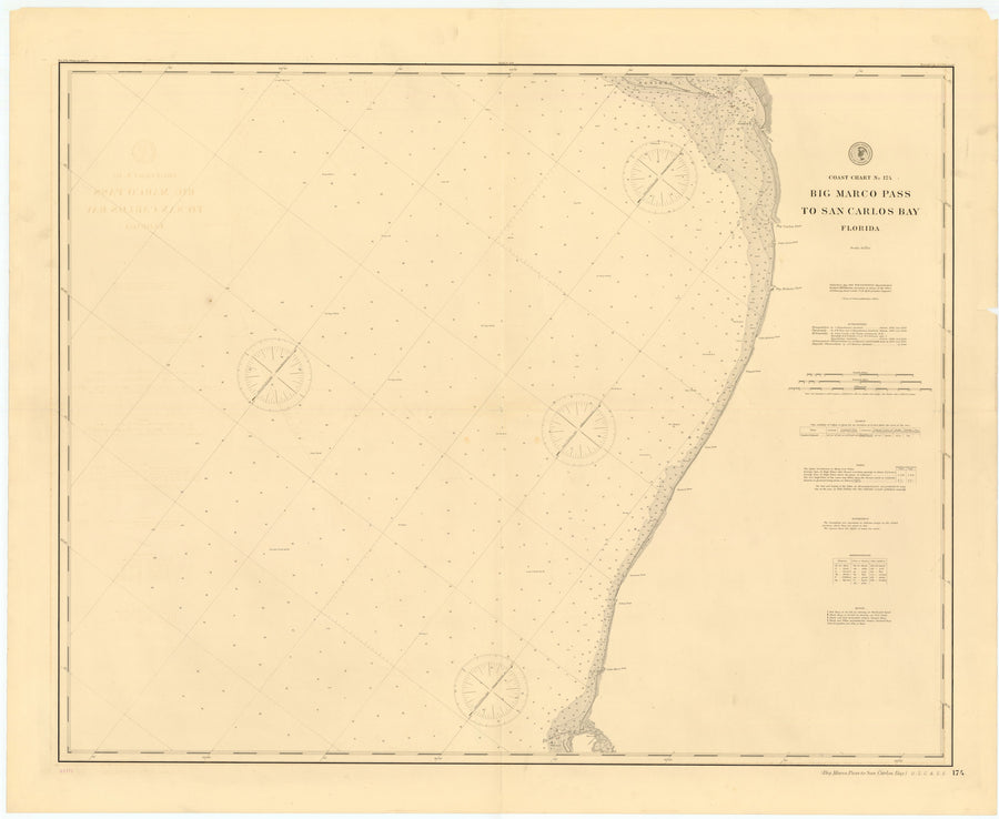 Big Marco Pass to San Carlos Bay, Florida Map - 1897