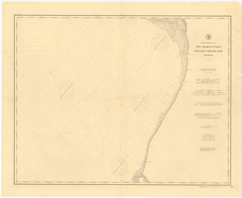 Big Marco Pass to San Carlos Bay - Florida Historical Map - 1897