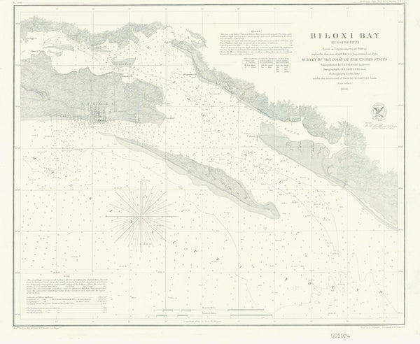 Biloxi Bay Map 1858