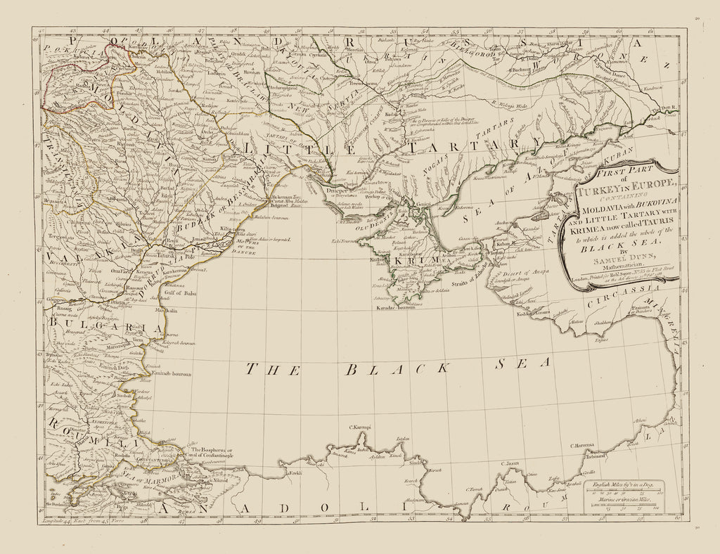 Black Sea Map 1788