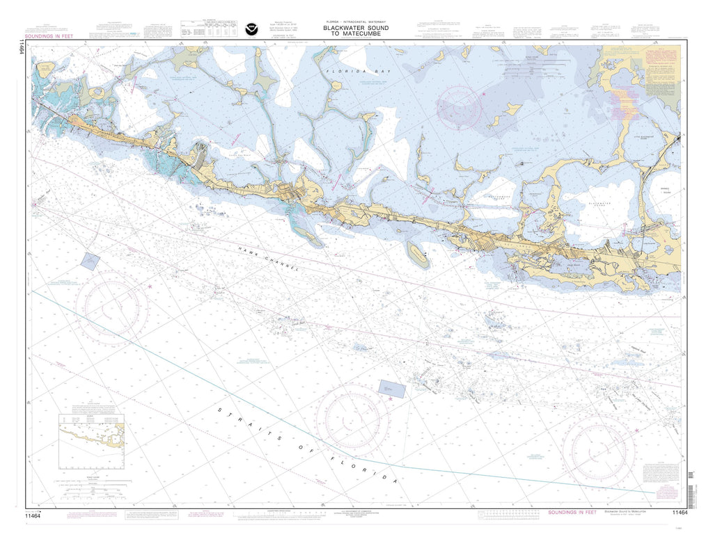 Blackwater Sound to Matecumbe Map 2001