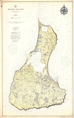 Block Island Historical Map - 1914
