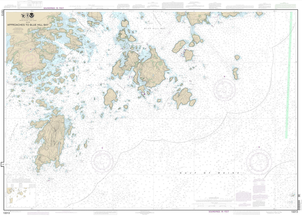 Blue Hill Bay Approaches Map - 2013