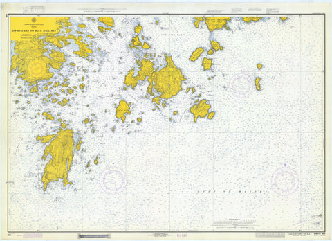 Blue Hill Bay Map - Maine 1971