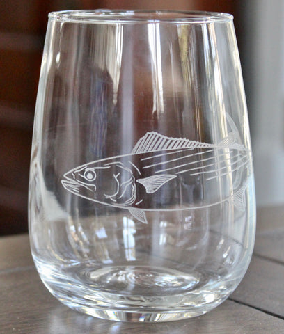 Bonito - Engraved Rocks, Stemless Wine & Pint Glasses