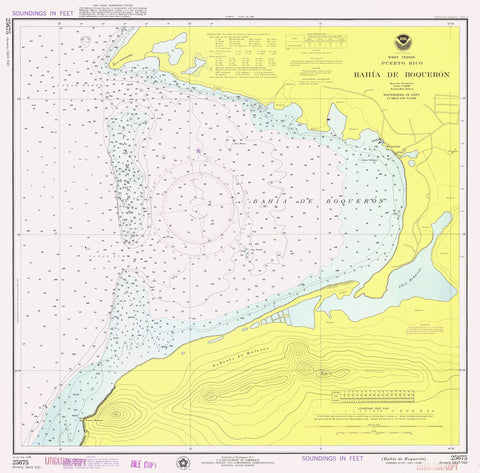 Boqueron Bay Map - Puerto Rico - 1976