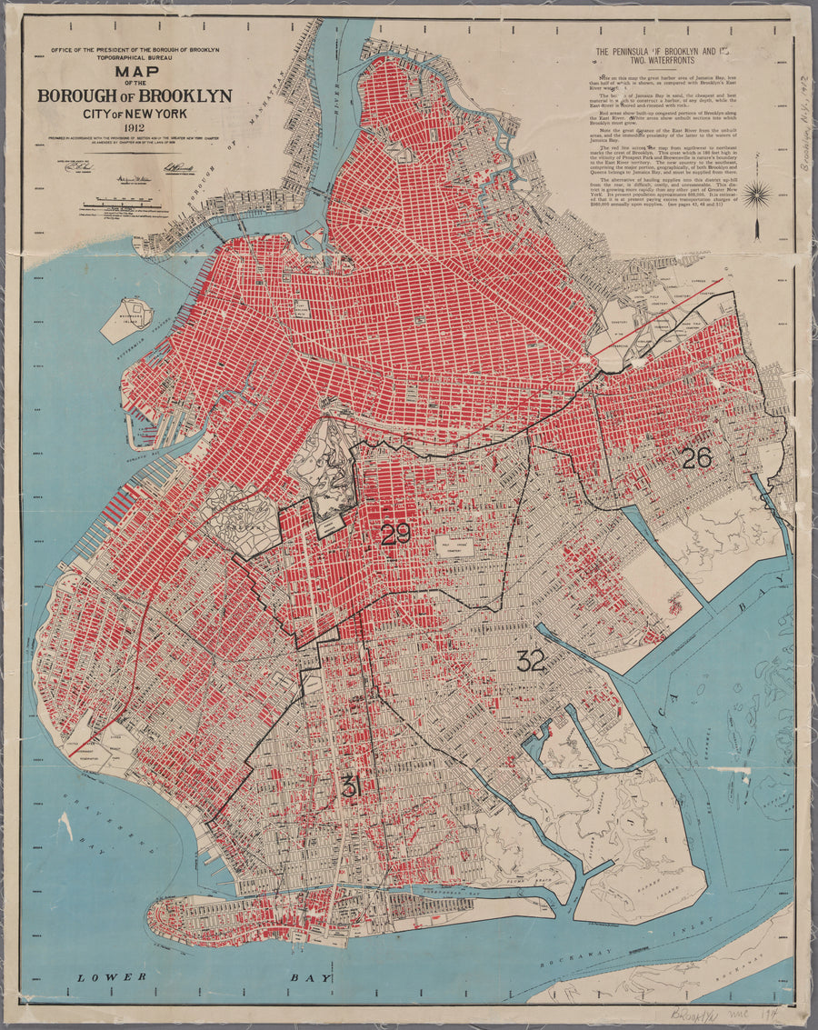 Borough of Brooklyn Map 1912
