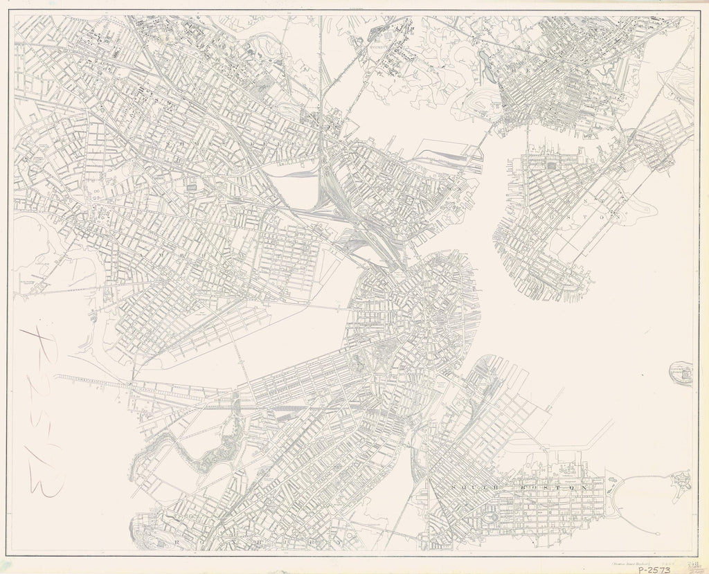 Boston Harbor Historical Map