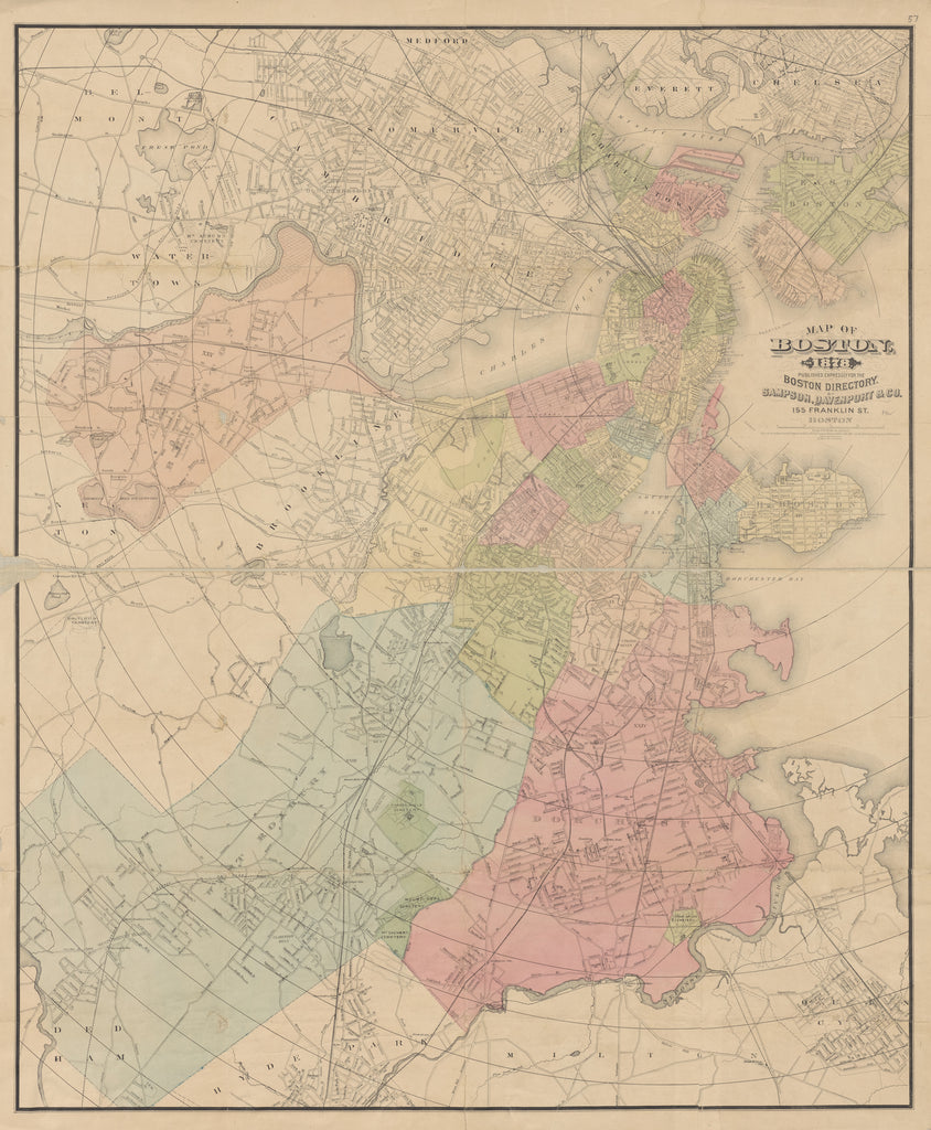 Boston Map 1878