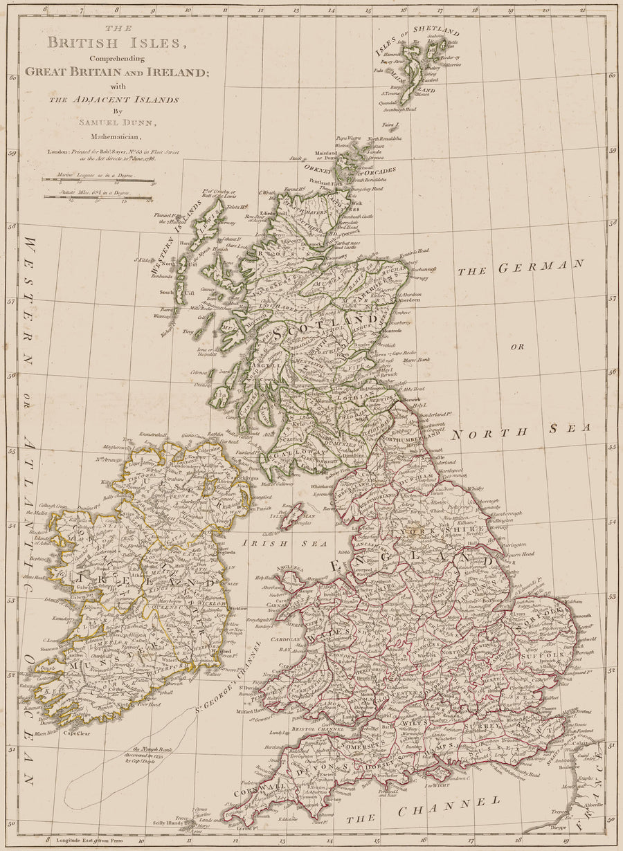 British Isles - Great Britain & Ireland Map