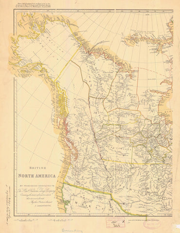 British North America - British Columbia Map 1898