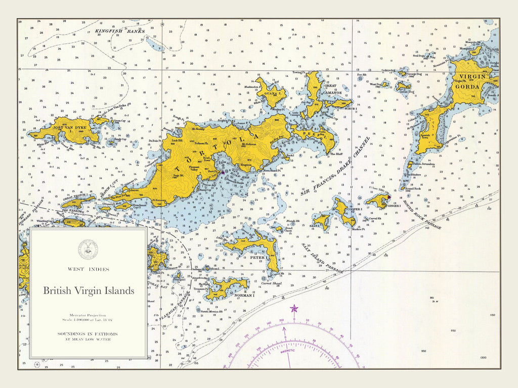 british virgin islands map bvi tortola to virgin gorda 1962