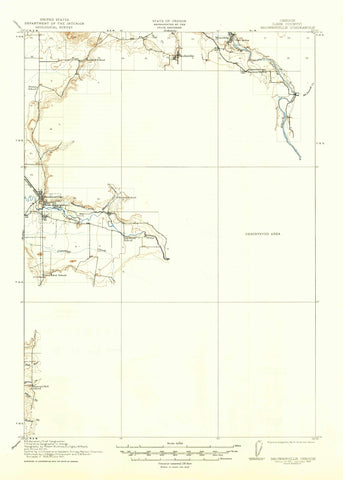Brownsville Oregon Topographic Map - 1921