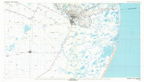 Brownsville Texas Topographic Map - 1992
