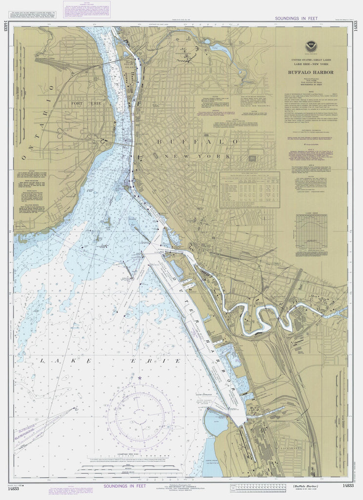 Buffalo Harbor Map 1985