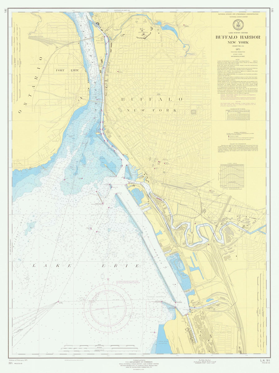 Buffalo Harbor Map 1971