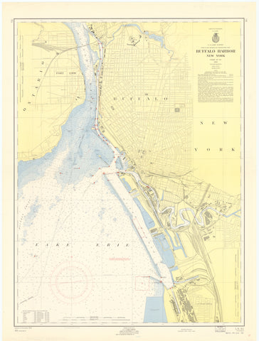 Buffalo Harbor Map 1957