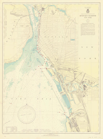 Buffalo Harbor Map 1938