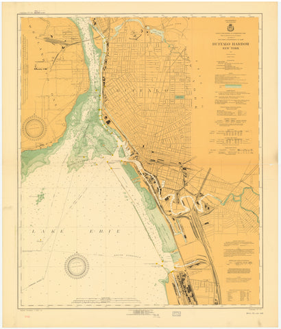 Buffalo Harbor Map 1925