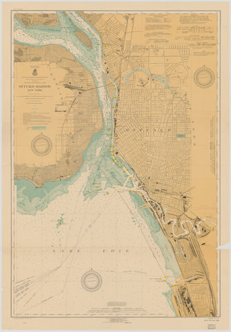 Buffalo Harbor Map 1918