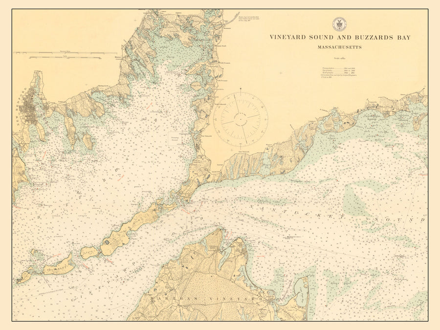 Buzzard's Bay & Vineyard Sound Map