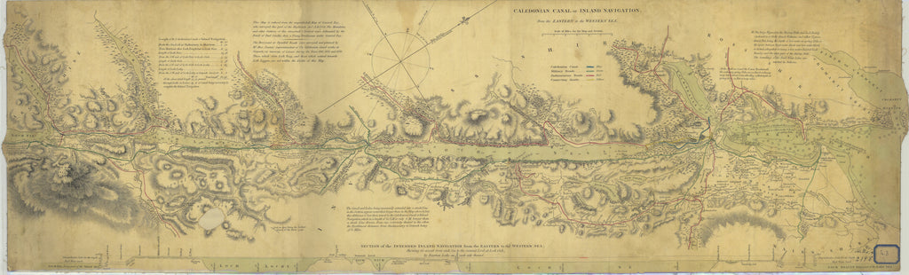 Caledonian Canal Map - 1750