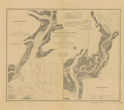 Calibogue Sound and Skull Creek South Carolina Map 1879