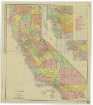 California State Map - 1907