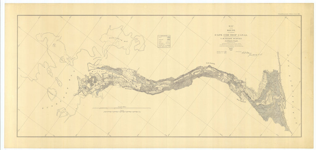 Cape Cod Ship Canal Map - 1884